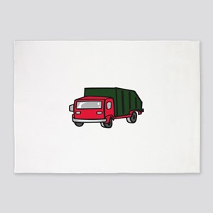 GARBAGE TRUCK 5'x7'Area Rug