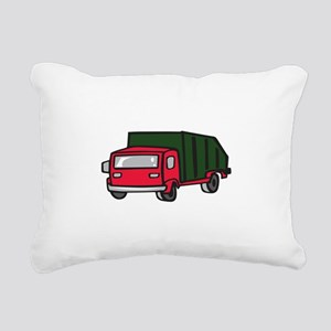 GARBAGE TRUCK Rectangular Canvas Pillow