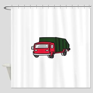 GARBAGE TRUCK Shower Curtain