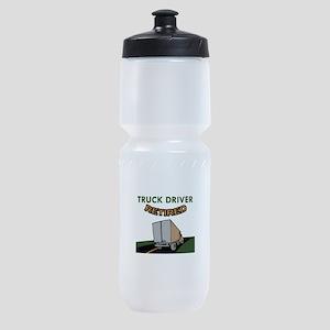TRUCK DRIVER RETIRED Sports Bottle