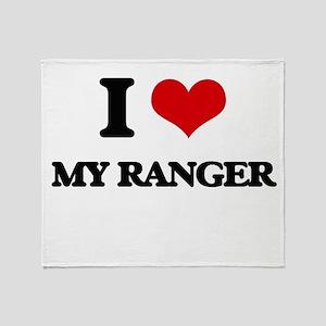 I Love My Ranger Throw Blanket