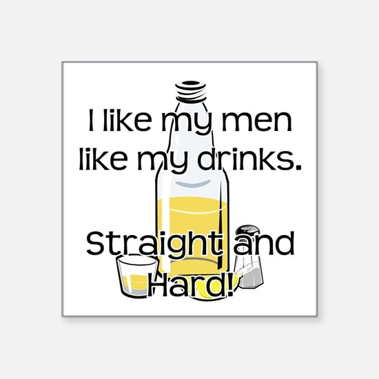 """STRAIGHT AND HARD Square Sticker 3"""" x 3"""""""