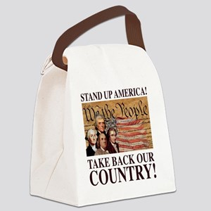 Founding Fathers Canvas Lunch Bag