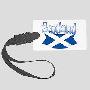 Scottish flag ribbon Large Luggage Tag