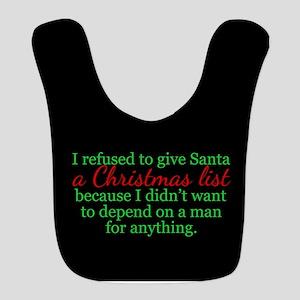 Feminist Christmas Polyester Baby Bib