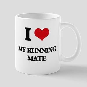 I Love My Running Mate Mugs