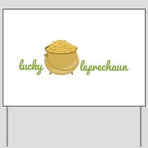 Lucky Leprechaun Yard Sign