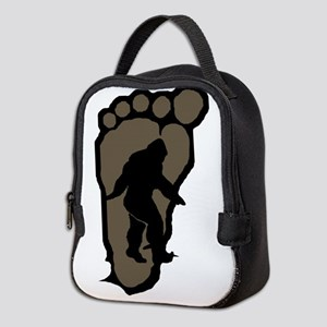 Bigfoot print b2 Neoprene Lunch Bag