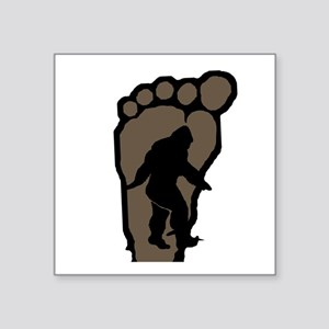 "Bigfoot print b2 Square Sticker 3"" x 3"""