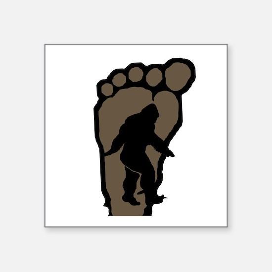 """Bigfoot print b2 Square Sticker 3"""" x 3"""""""