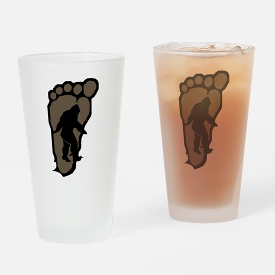 Bigfoot print b2 Drinking Glass