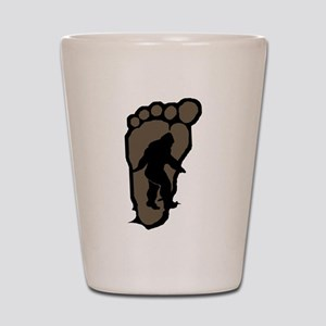 Bigfoot print b2 Shot Glass