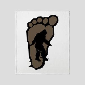 Bigfoot print b2 Throw Blanket