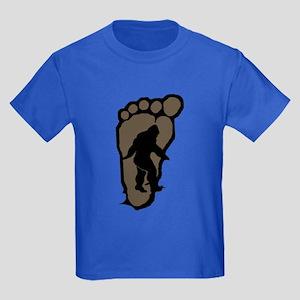 Bigfoot print b2 Kids Dark T-Shirt