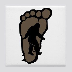 Bigfoot print b2 Tile Coaster