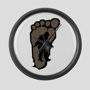 Bigfoot print b2 Large Wall Clock