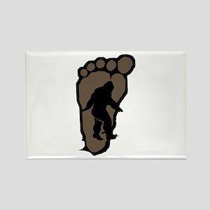 Bigfoot print b2 Rectangle Magnet