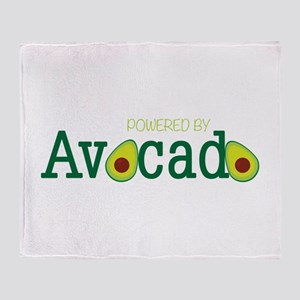 Powered By Avocado Throw Blanket