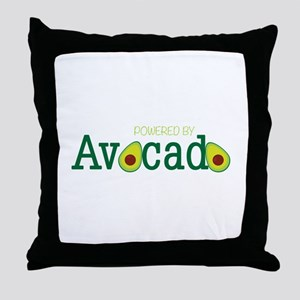 Powered By Avocado Throw Pillow