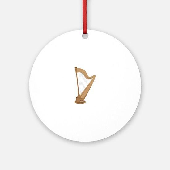 Standing Harp Ornament (Round)