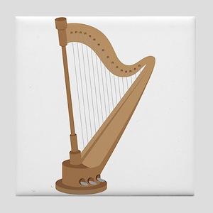 Standing Harp Tile Coaster