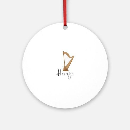 Harp Ornament (Round)