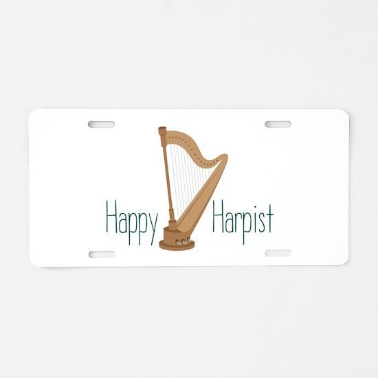 Happy Harpist Aluminum License Plate