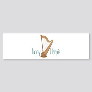 Happy Harpist Bumper Sticker