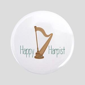 """Happy Harpist 3.5"""" Button"""