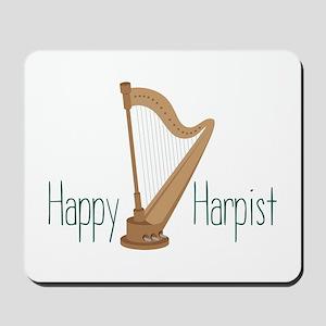 Happy Harpist Mousepad
