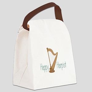 Happy Harpist Canvas Lunch Bag