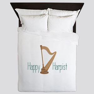 Happy Harpist Queen Duvet