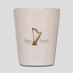 Happy Harpist Shot Glass
