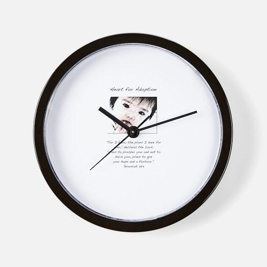 Adoption Design Asian Baby.jpg Wall Clock