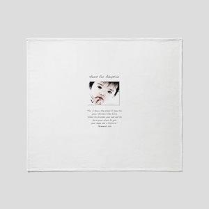Adoption Design Asian Baby Throw Blanket