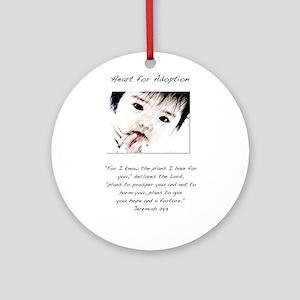 Adoption Design Asian Baby Ornament (Round)