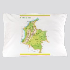 Colombia Green map Pillow Case