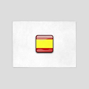 Flag of Spain 5'x7'Area Rug
