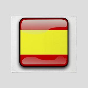 Flag of Spain Throw Blanket