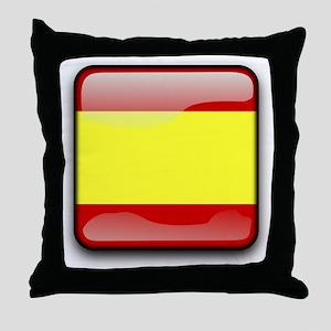 Flag of Spain Throw Pillow