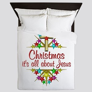 Christmas About Jesus Queen Duvet