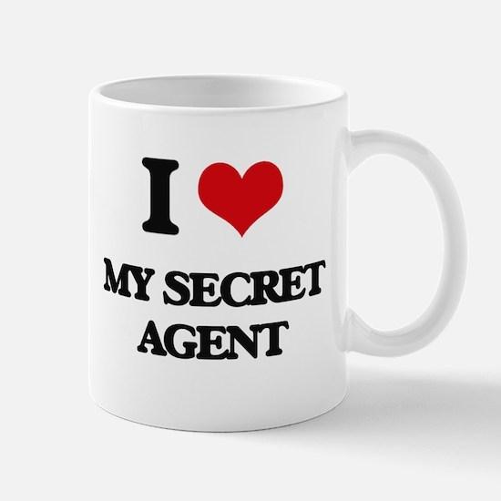 I Love My Secret Agent Mugs