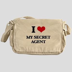 I Love My Secret Agent Messenger Bag