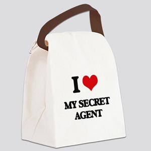 I Love My Secret Agent Canvas Lunch Bag