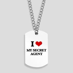 I Love My Secret Agent Dog Tags