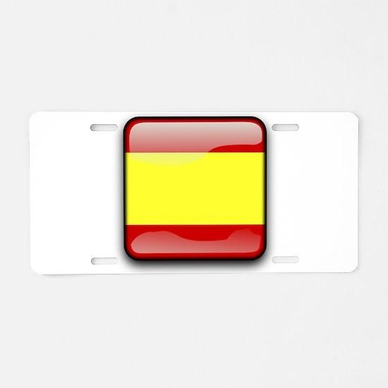Flag of Spain Aluminum License Plate