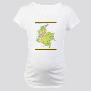 Colombia Green map Maternity T-Shirt