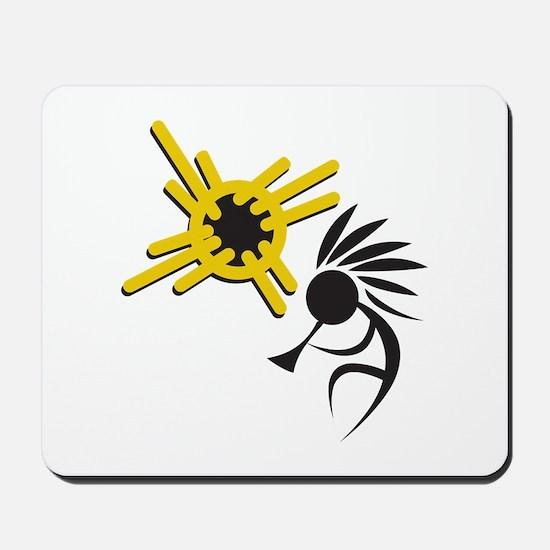 KOKOPELLI AND SUN Mousepad