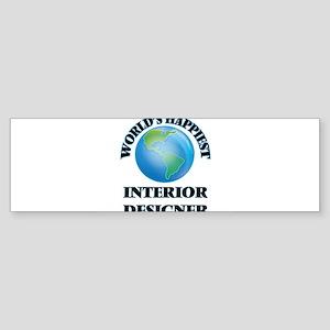 World's Happiest Interior Designer Bumper Sticker