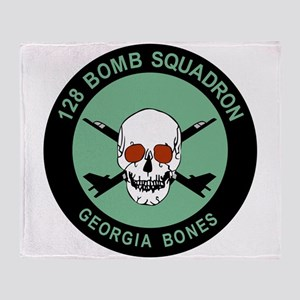 128_bomb_squadrn_GEORGIA_bone Throw Blanket